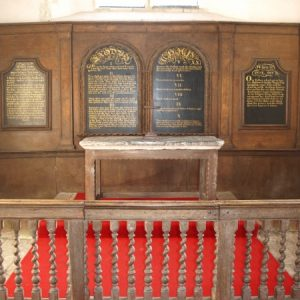 Reredos, altar and altar rails