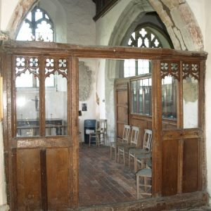 The north chapel screen