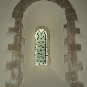 Splayed Norman lancet window