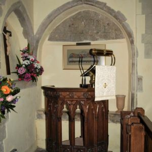 The pulpit and blocked openings