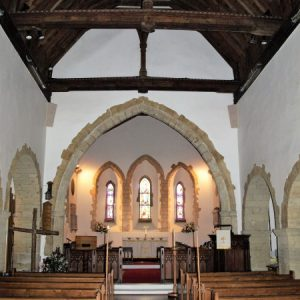 A view from the nave towards the chancel arch