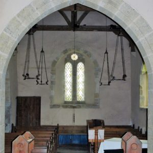The west end viewed through the chancel arch