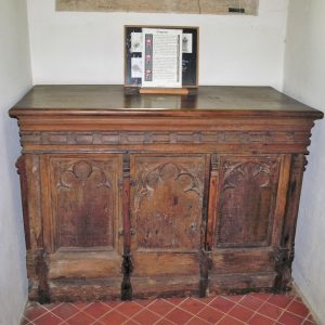 Antique church chest