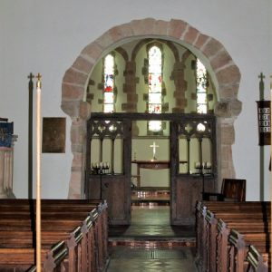 The nave, chancel arch and chancel screen