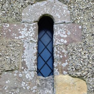 Norman window in the chancel north wall