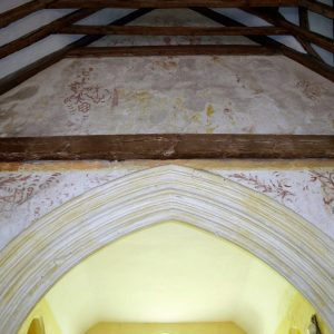 Wall paintings over the chancel arch