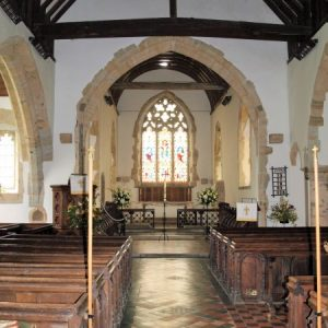 The nave, chancel arch and chancel