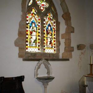 2-light window in chancel north wall