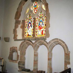 Triple sedilla in chancel