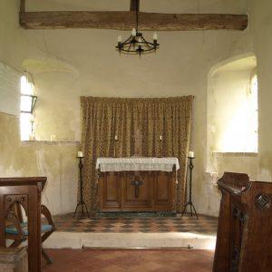 The apsidal chancel