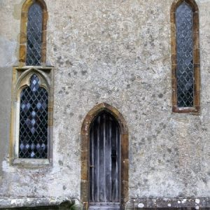Part of the south wall of the chancel