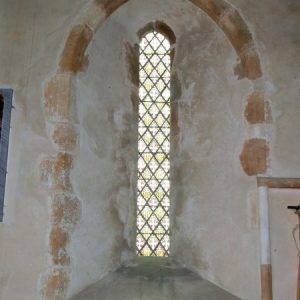 Original 13th century lancet in chancel