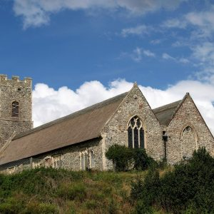 Pakefield parish church from the south-east