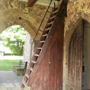 External staircase under the tower