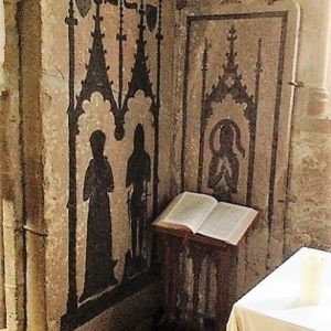 Medieval wall brasses in Afton Chapel