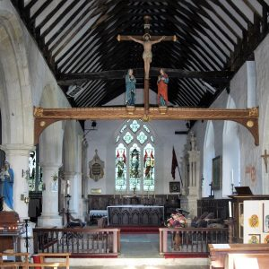 The chancel and rood