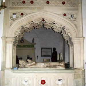 The Leigh monument between chancel and north chapel