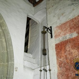 A section of the original rood stairs