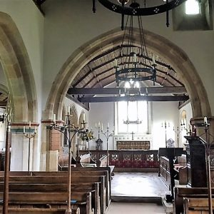 The nave and chancel looking east