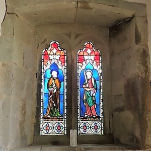 Stained glass depicting the Sts Peter and Paul