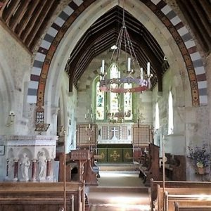 The nave, chancel arch, and chancel