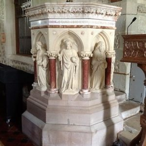 Caen stone pulpit