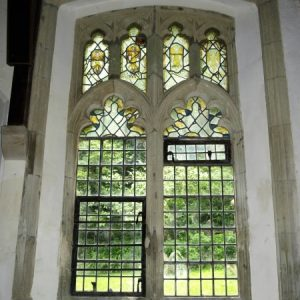 15th century window in the nave south wall