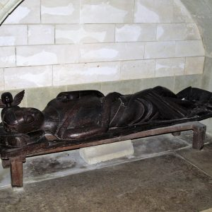 Early 14th century oak effigy