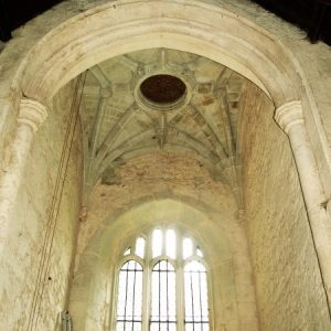 Vaulted ceiling in the tower