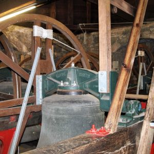 One of the 8 bells in the tower