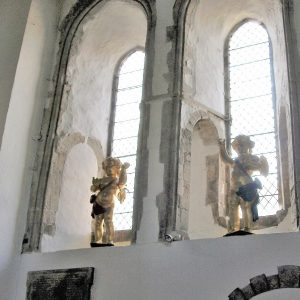 The original 'quarter boys' taken down from the church clock