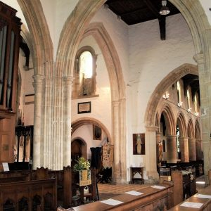 The south transept and the south aisle arcade
