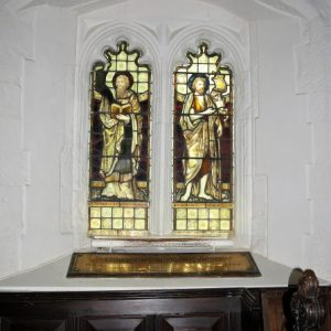 Two light window with cinquefoil heads