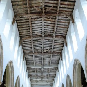 The angel roof in the nave