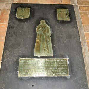 Chancel floor brass