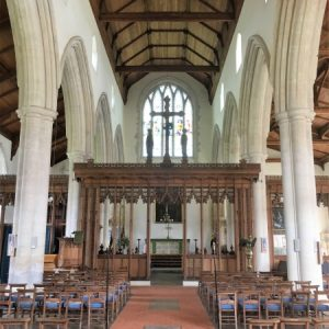 The nave and rood screen