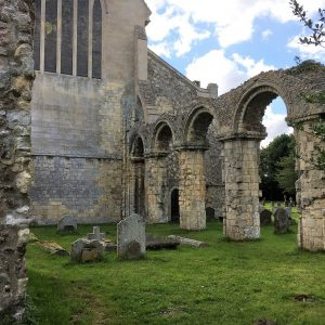 The north arcade of the Norman chancel